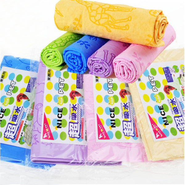 Multifunctional pet dog cat bath micro suede towel