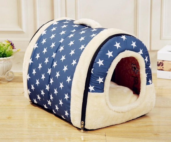 Princess Dog Bed Small/Large Dogs Detachable Cushion