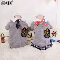 Preppy Plaid Style Dog/Cat Dress Vest Winter Warm Cat