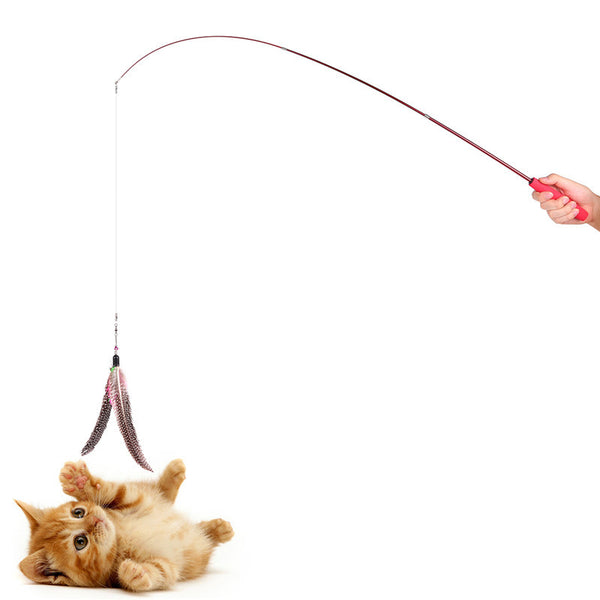 ABEDOE Retractable Teaser Cat Catcher Fishing Pole