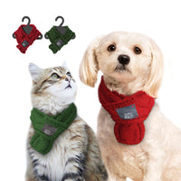Warm Winter Pet Scarves Small Puppy/Kitty Tie Dogs Collars