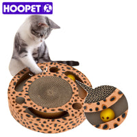 HOOPET Cat Round Scratcher Multihole with Balls
