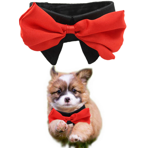 Pet Collars Cotton Neck Tie Dog Bow, S ti XXL
