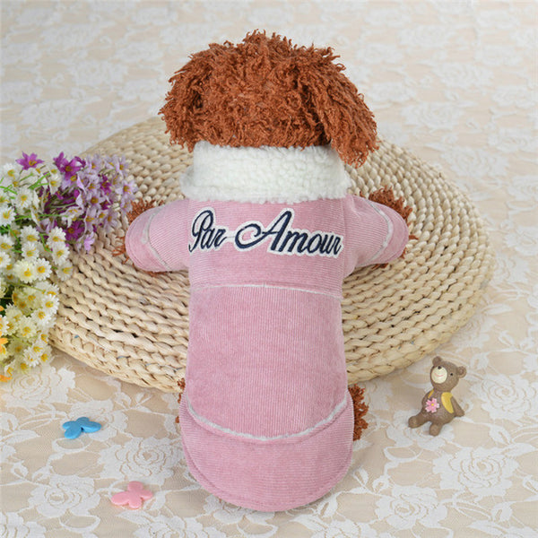 Winter Warm Pet Dog Clothes For Small Dogs Coat Jacket