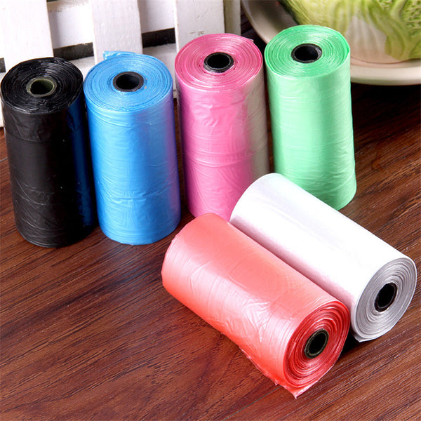 Colorful  20pcs/ Roll Pet Poop Bags
