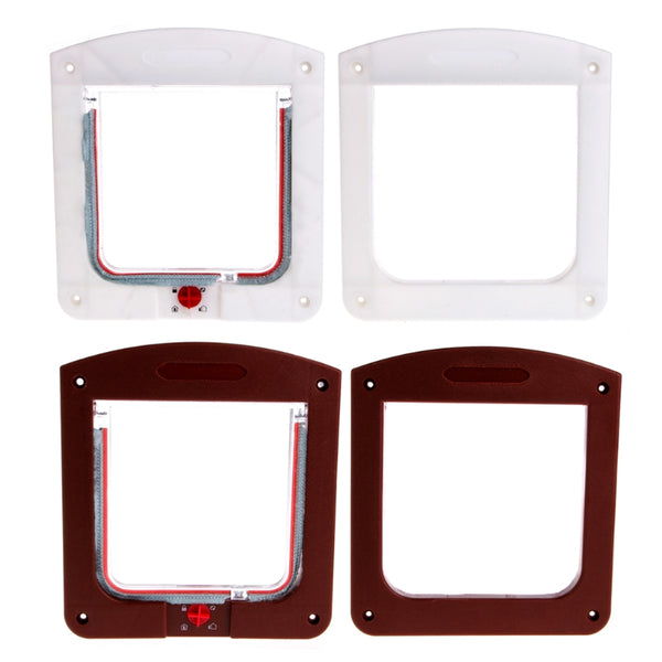4 Way Lockable Safe Flap Door Gate Anti Drought Brush-Lined Edge