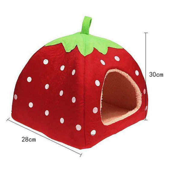 Mini Size New Soft Strawberry Pet Dog Cat Bed