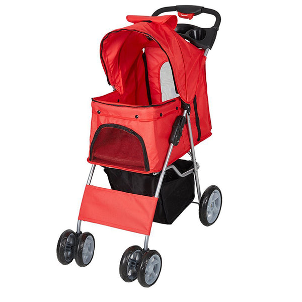 Oxford Cloth Pet Stroller, Windproof, Breathable
