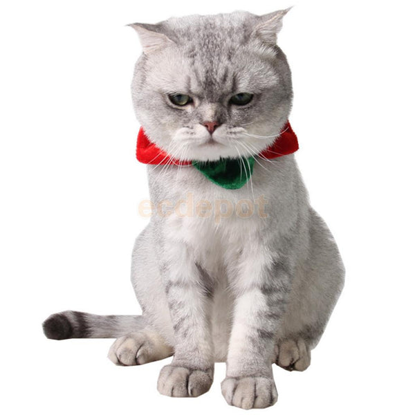 Flexible Puppy Cat Dog Christmas Collar Fancy Dress Clothes