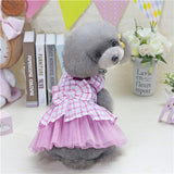Adorable Plaid Dresses Dog Clothing Small Dogs Costume Hoodie
