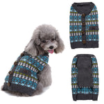 Dog Pullover Autumn/Winter Warm Dog Sweater Print With Button England Style Puppy Dachshund Cloth F1227