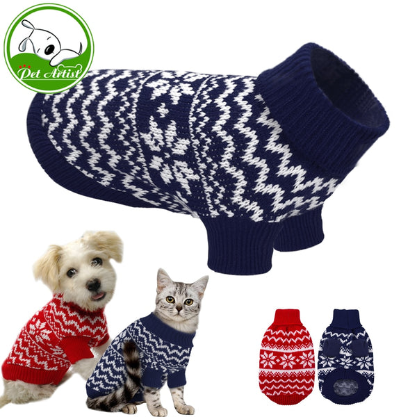 Soft Puppy Dog or Cat Clothes Warm Winter Sweater