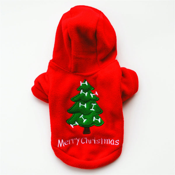 Christmas Dog Coats Soft Cotton Fleece Wear Pets Warm Jackets