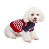 Newest Pet Sweater Fashion Design Contrast Color Wool