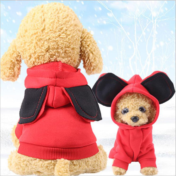 Autumn Winter Puppy or Cat Costume With Big Ears Clothes