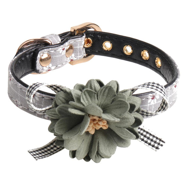 Cute Flower Pet Collar Adjustable Butterfly Knot Pet Collar