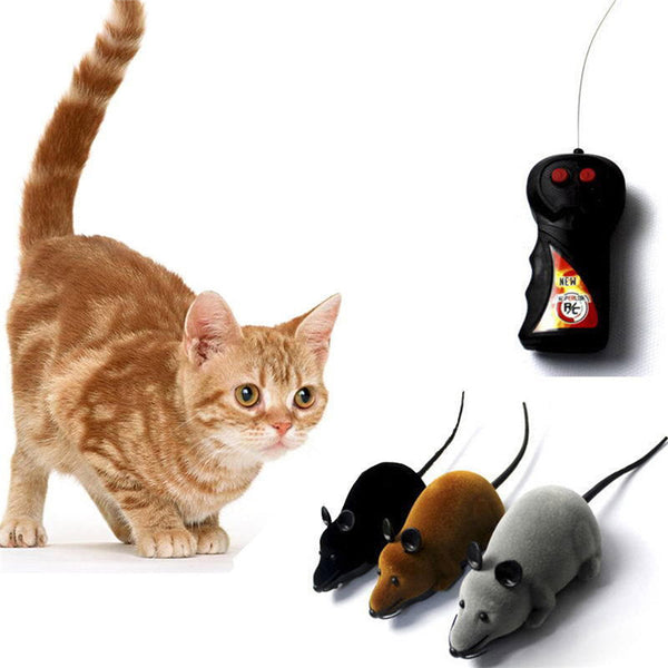 Novelty Funny RC Wireless Remote Control Rat Mouse Toy For Cat Dog Pet For Children Kids Baby