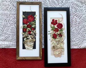 Real Pressed Rose Bouquet Framed Artwork by Pressed Wishes, Canadian Artisans