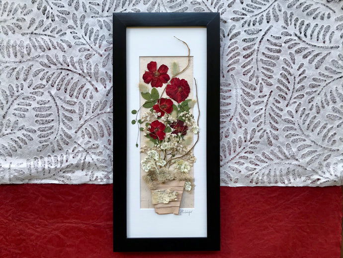 Real Pressed Flower Rose Bouquet Framed Picture Home Decor by Pressed Wishes