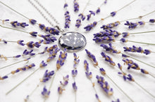 Resin Jewlry | Real Lavender Necklace Pendant made with lavender and resin