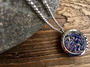 lavender stainless steel locket
