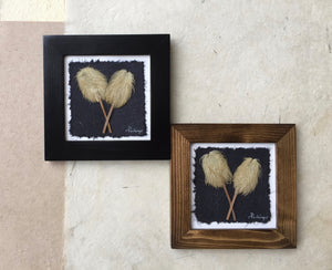 Pressed Hippie on a stick (anemone) Framed; Dried Flowers