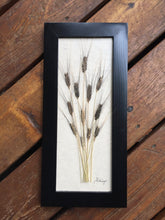 pressed ancient einkorn wheat black frame