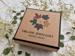Each piece of jewellery comes in a PRESSED WISHES jewellery box