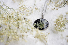 Real Pressed Queen Annes Lace Resin Pendant Necklace by Pressed Wishes, Canadian Artists