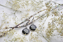 Real Pressed Queen Annes Lace Dangle Earrings by Pressed Wishes Wedding Jewellery
