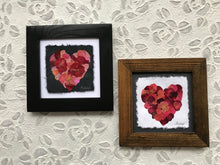 dried flower art; pressed rose mosaic framed artwork; pressed botanical artwork