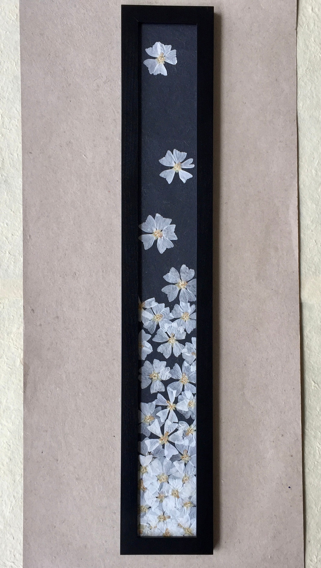 THE SKINNY Pressed Musk Mallow Framed Art with Black Frame