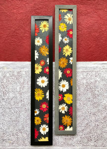 THE SKINNY Crazy Daisy Set of 2 with black and grey frame