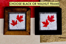 dried maple leaf artwork available in black or walnut frame by Pressed Wishes