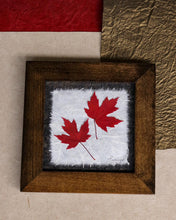 Rustic home decor with a real pressed maple leaf