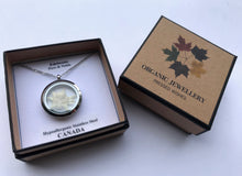 pressed edelweiss circle locket in Pressed Wishes box with Floriography