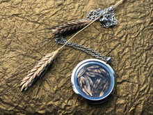 pressed botanical wheat jewelry by Pressed Wishes Canadian Artisan