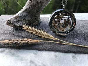 Ancient Einkorn Circle Stainless Steel Locket by Pressed Wishes
