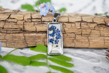 Forget Me Not Flower Necklace - This flower is the international symbol of the Alzheimer's Society. Symbolizes Remembrance