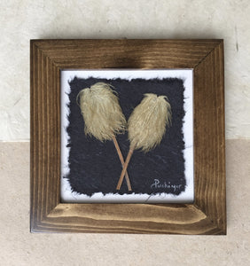 Framed Hippie on a stick Anemone; Pressed flower artwork