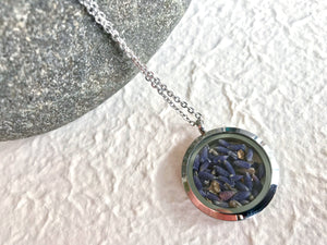 lavender stainless steel locket circle