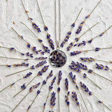 Lavender pendant necklace available online for sale by Pressed Wishes - Handmade with love in the mountains of Canada