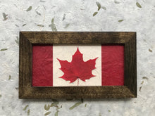 Pressed red sugar maple Canadian Flag made with a real maple leaf