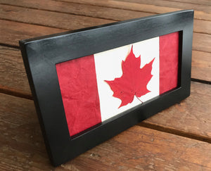 pressed maple leaf canadian flag handcrafted in canada