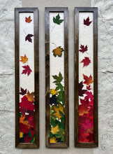 THE SKINNY Maple Leaf framed artwork with walnut frame; handcrafted in Canada