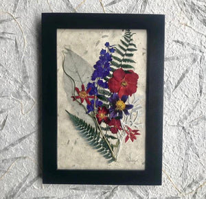 Real Pressed Flower Framed Artwork by Pressed Wishes