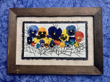 Real pressed pansy home decor framed artwork by Pressed Wishes, Canadian artist