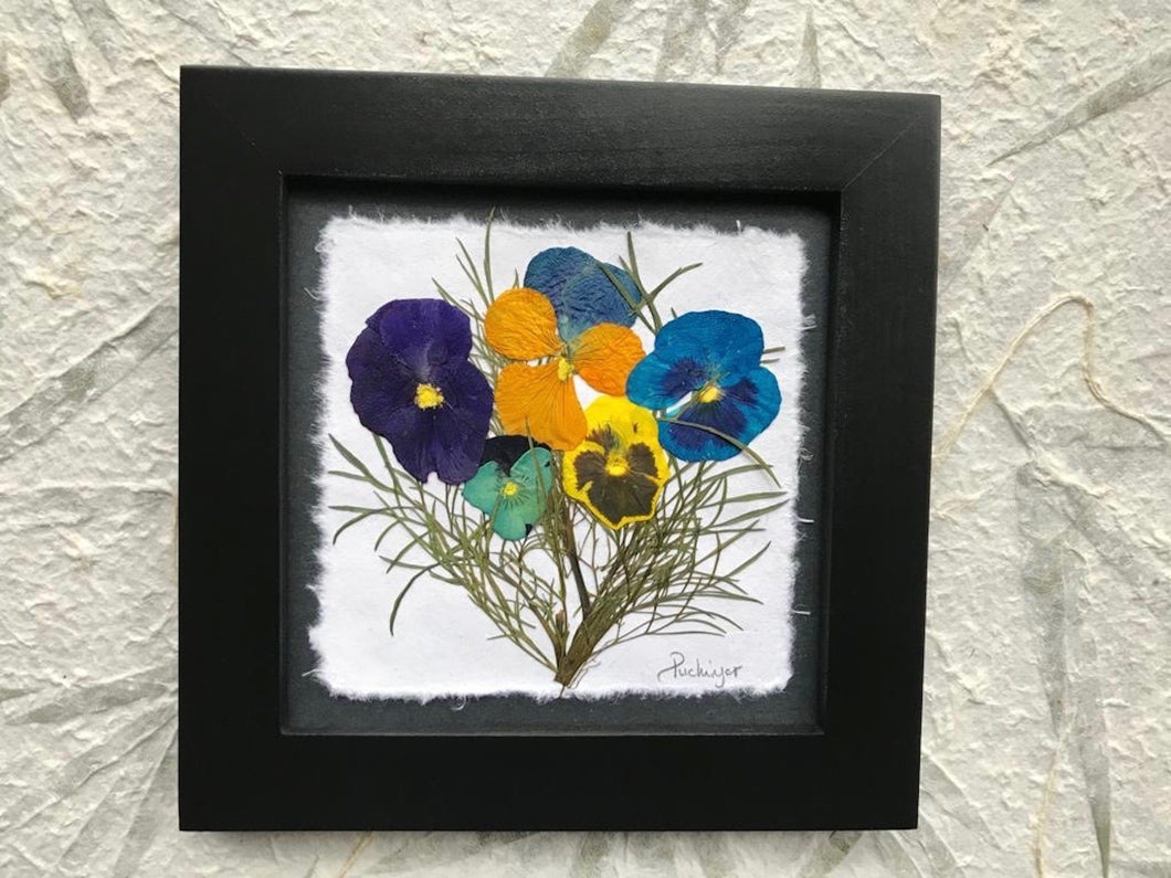 pressed pansy framed artwork by Pressed Wishes