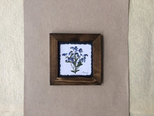 Dried forget me nots; made in canada pressed forget me not artwork