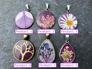 ONE OF A KIND Handmade Purple pendants - once they're gone, they're gone! Get yours today!